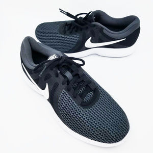 Nike Mens Revolution 4 Green Black Lace Up Shoes